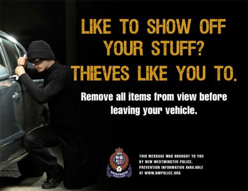 Auto theft poster